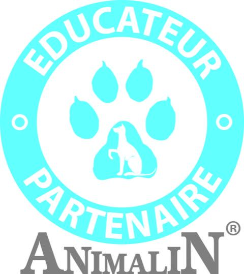 Sticker rond animalin educateur version2